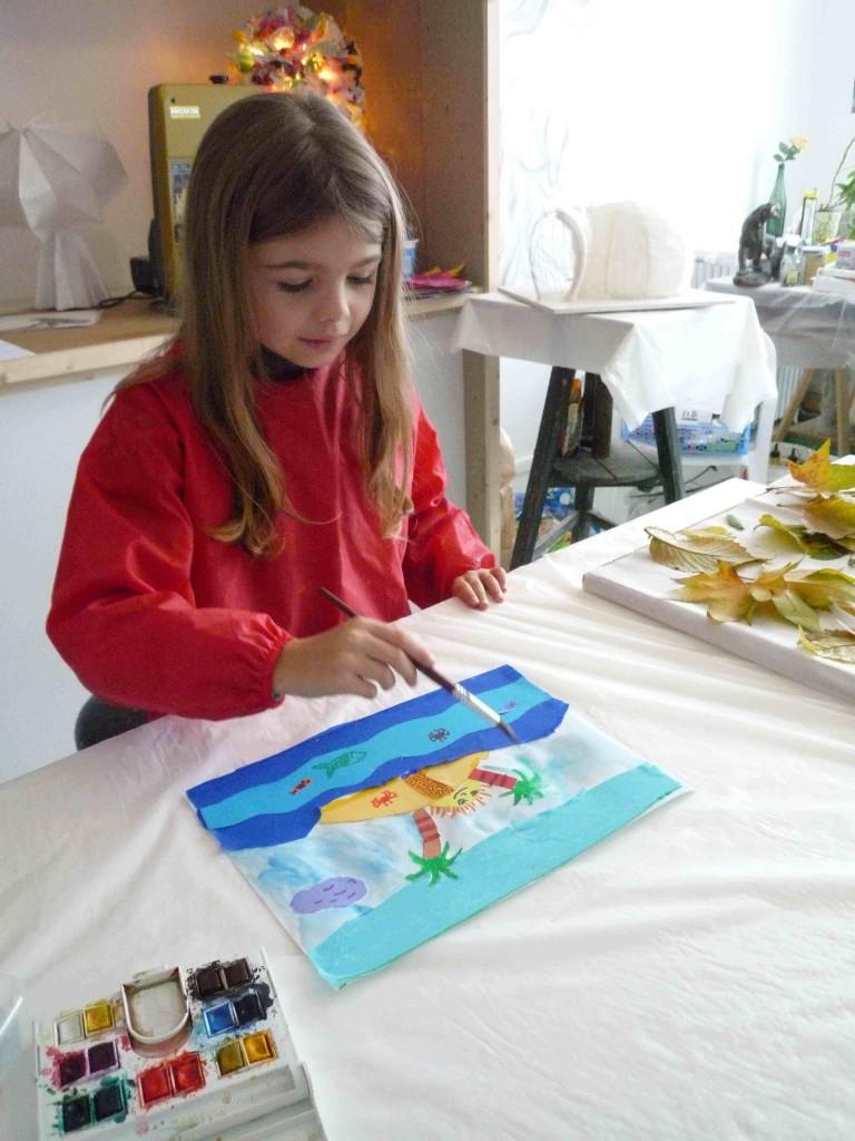 Margot (7 ans) au travail