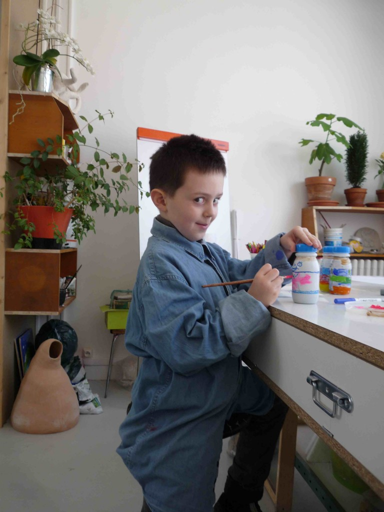 """Alexander (5 ans), création de 6 cônes pour le Jeu de """"Bowling"""""""